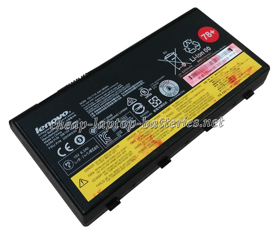 96Wh Lenovo Thinkpad p70 Mobile Workstation Laptop Battery