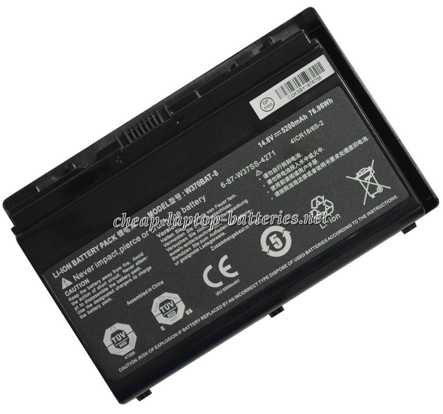 5200mAh  Clevo w370et Laptop Battery