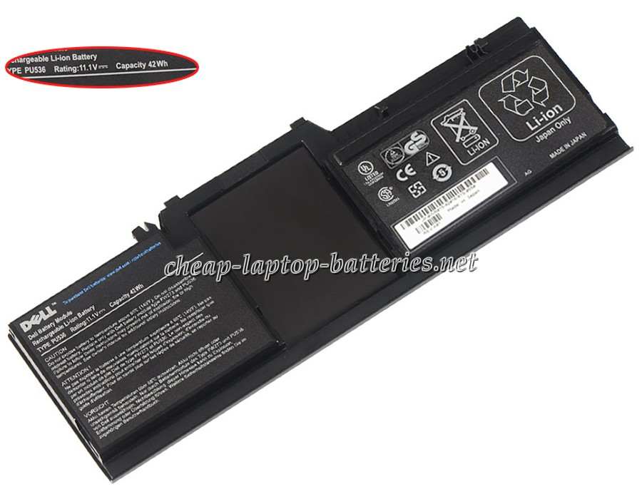 2000 mAh Dell um178 Laptop Battery