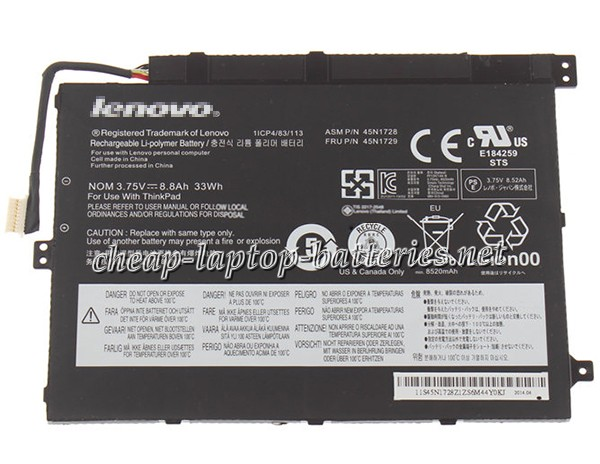 33Wh Lenovo 45n1728 Laptop Battery