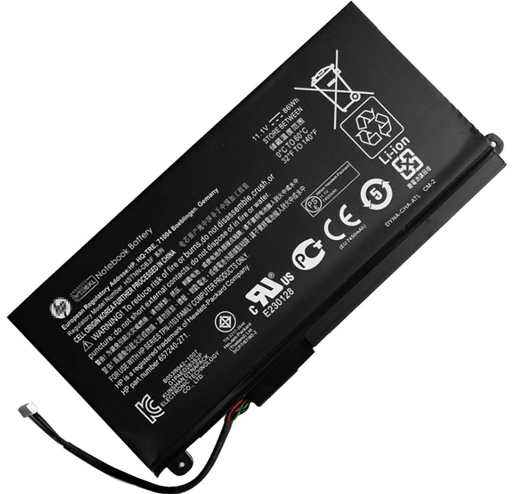 86Wh Hp Hstnn-ib3f Laptop Battery