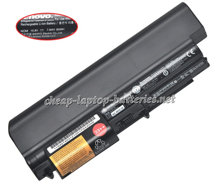 6600mAh Lenovo Thinkpad t61 7658 Laptop Battery