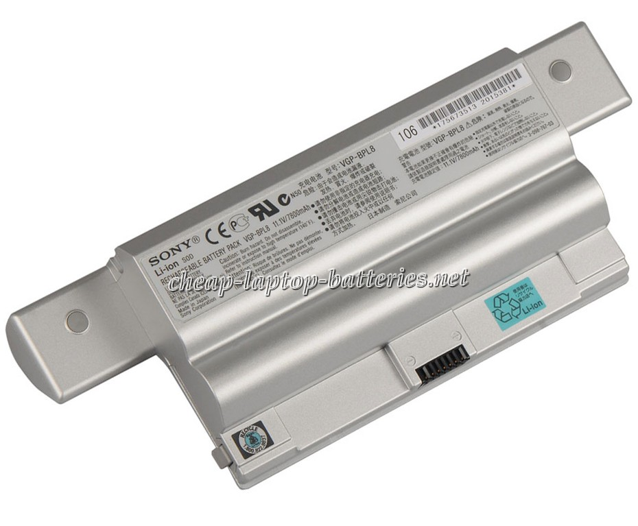 7800mAh Sony Vaio Vgn-fz25 Laptop Battery