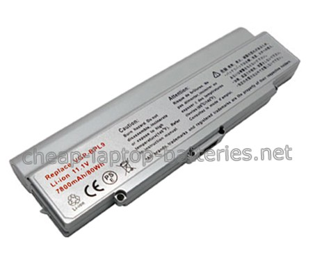 7800mAh Sony Vaio Vgn-cr21s/W Laptop Battery