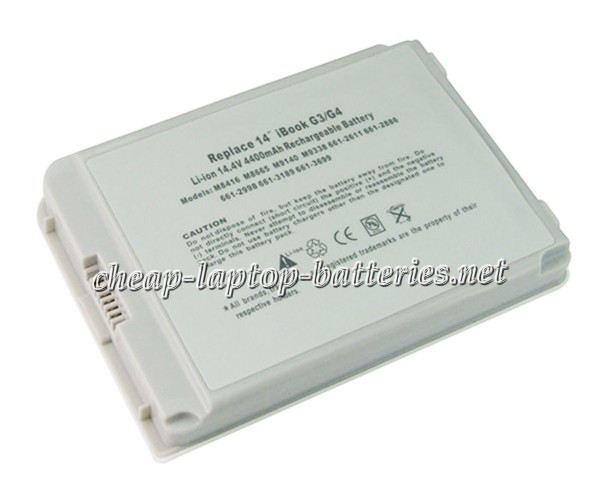 4400mAh Apple Ibook g4 14 Inch m9848*/A Laptop Battery