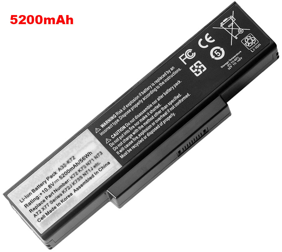 4400mAh Asus x72j Laptop Battery