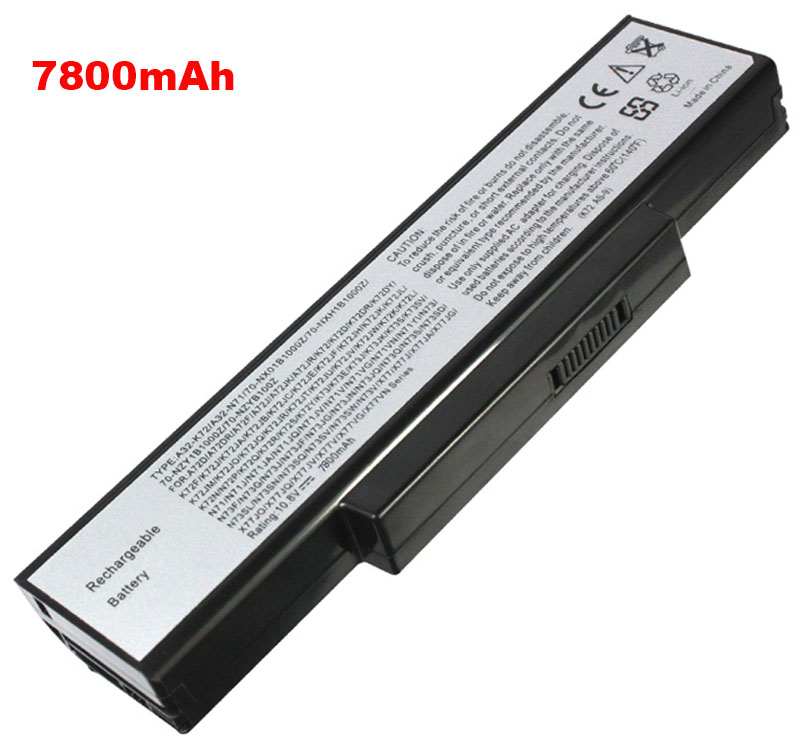 6600mAh Asus a72jr Laptop Battery