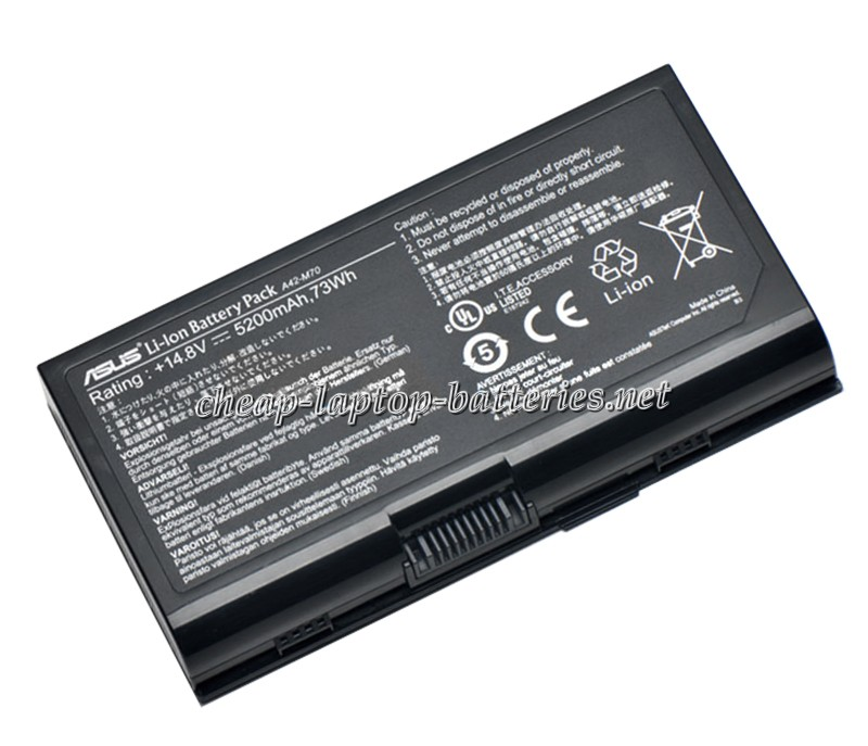 5200mAh Asus pro72q-7s029e Laptop Battery