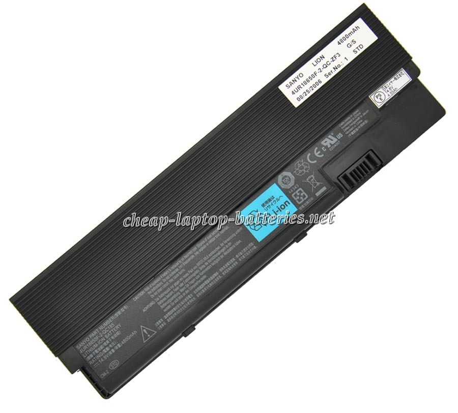 4800mAh Acer 4ur18650f-2-qc145 Laptop Battery