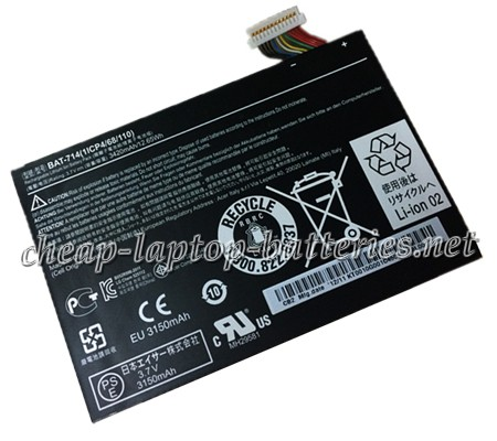 3420mAh Acer Iconia Tab a110 Laptop Battery