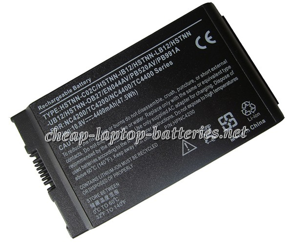 4400mAh Hp Compaq Hstnn-ib12 Laptop Battery