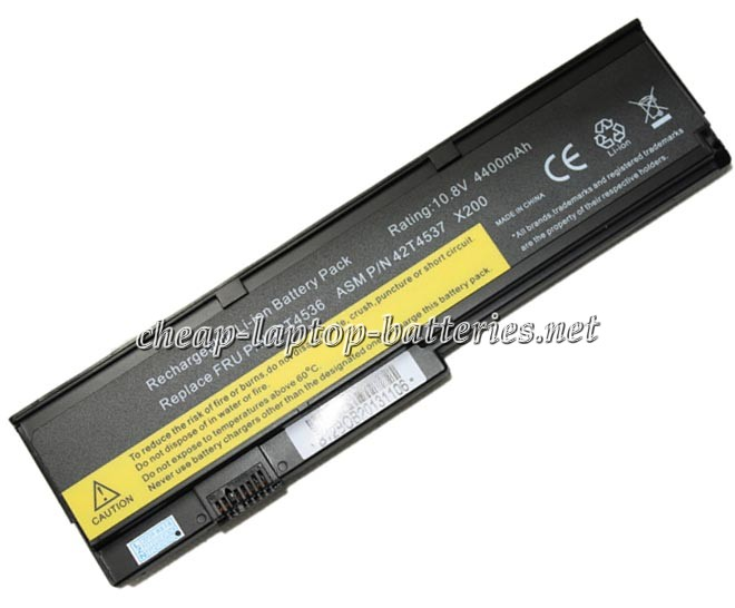 4400mah Lenovo 42t4537 Laptop Battery