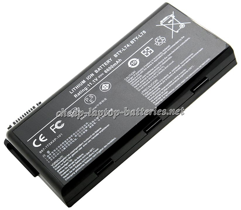 6600 mAh Msi a7200-cp6103w7h Laptop Battery