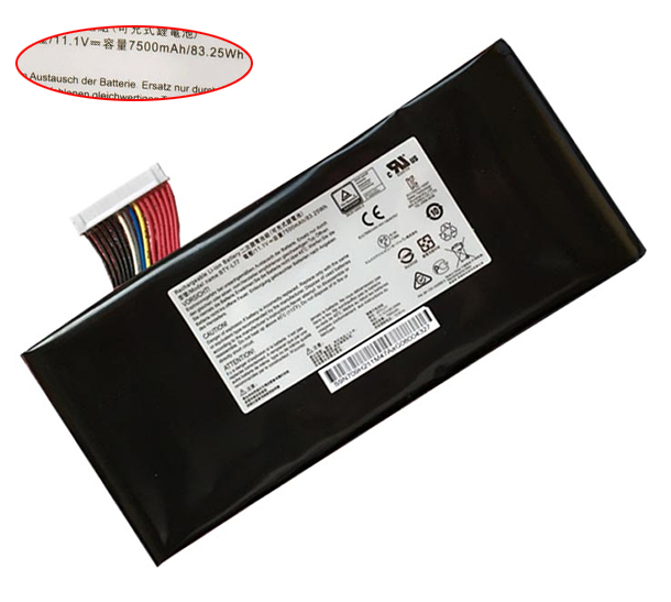 7500mAh/83.25Wh Msi gt72 6qe-209cn Laptop Battery