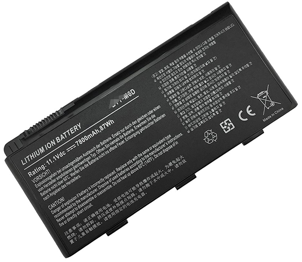 7800mAh/87Wh Msi gt600ne-251cn Laptop Battery