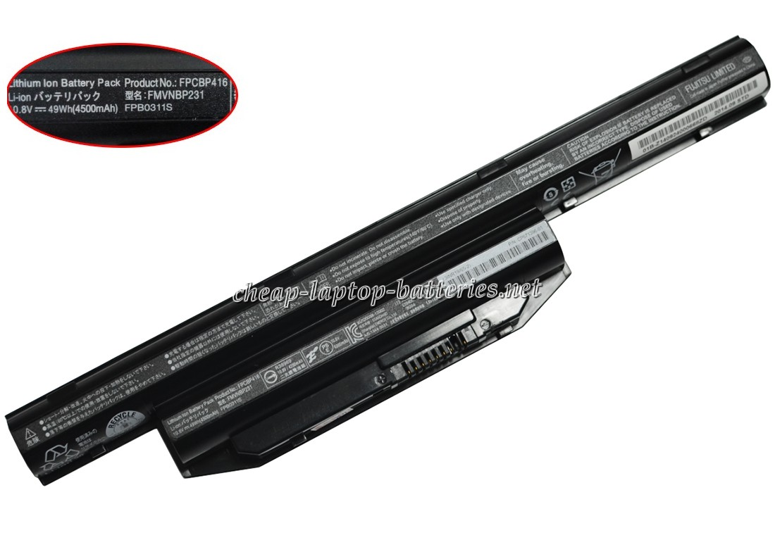 49Wh Fujitsu Lifebook e753 Laptop Battery