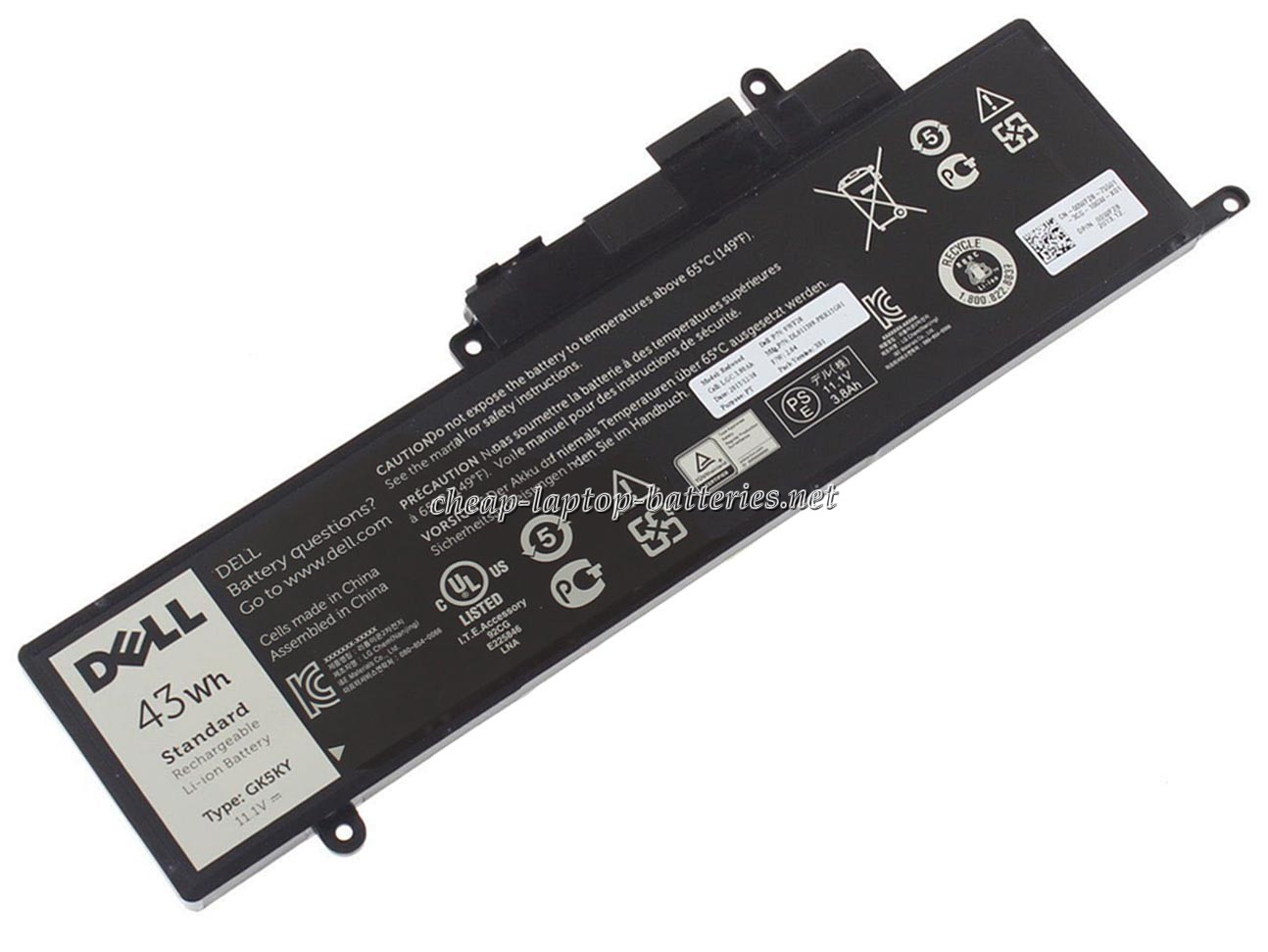 43Wh Dell ins13wd-4508t Laptop Battery