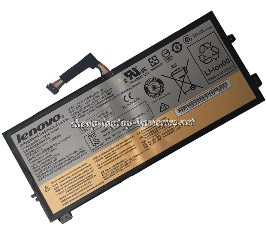 6000mAh Lenovo l13l4p61 Laptop Battery