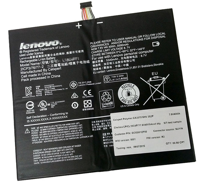 40Wh Lenovo 2icp3/76/77-2 Laptop Battery
