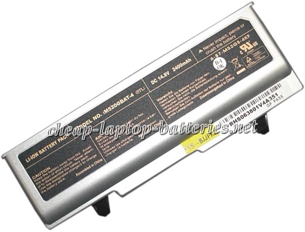 2400mAh Clevo m520g Laptop Battery