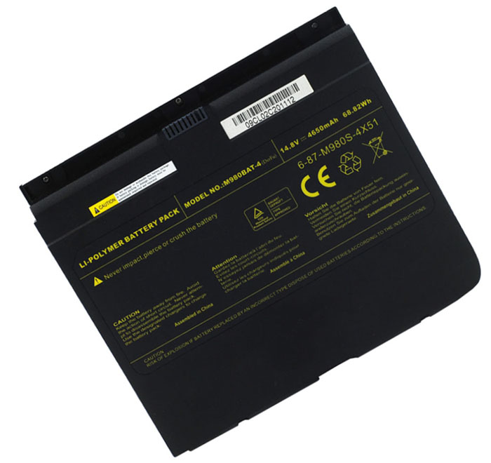 4650mAh Clevo m980bat-4 Laptop Battery
