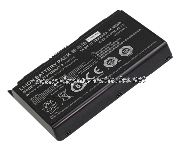5200 mAh Clevo p157sm Laptop Battery