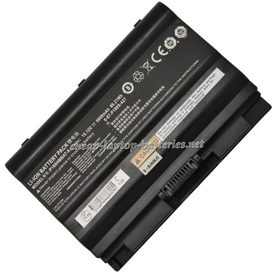 5900mAh  Clevo p180hmbat-3 Laptop Battery