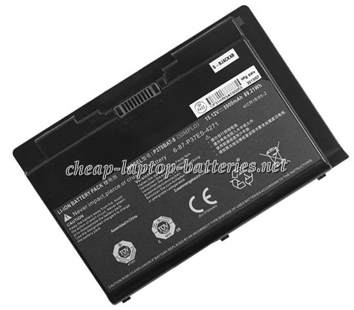5900 mAh Clevo p751zm Laptop Battery