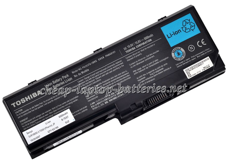 6000mAh Toshiba Satellite p200-17c Laptop Battery