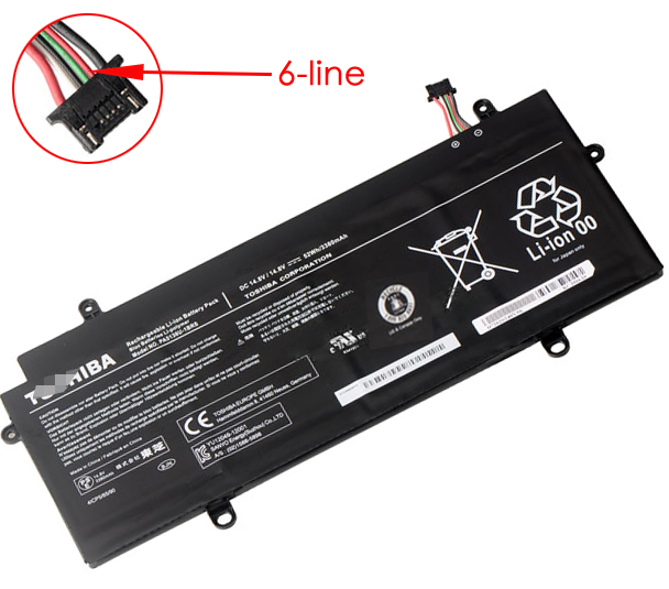 3380mAh Toshiba Portege z30-A-002 Laptop Battery