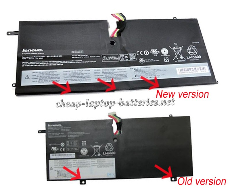 46 Wh Lenovo Thinkpad x1 Carbon 3443ab2 Laptop Battery