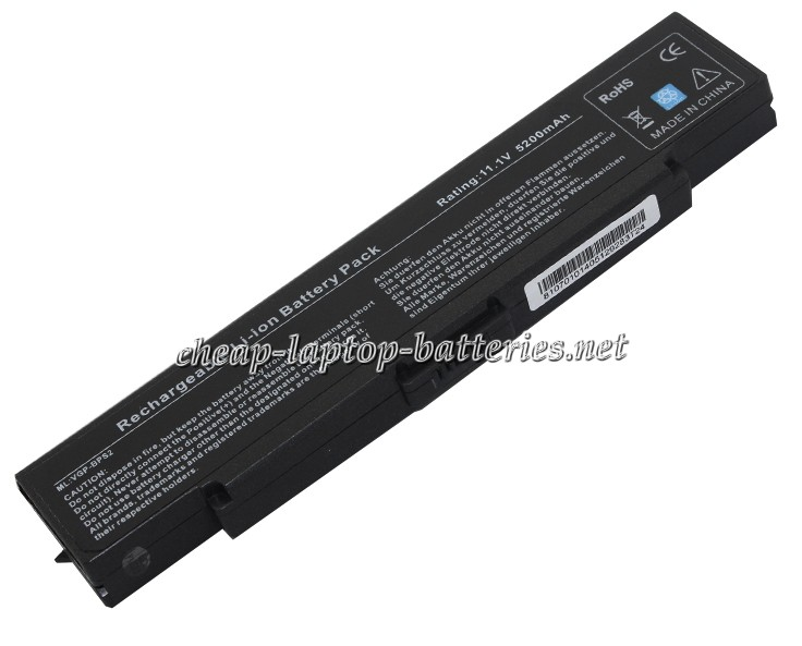 5200mAh Sony Vaio Vgn-s38lp/B Laptop Battery