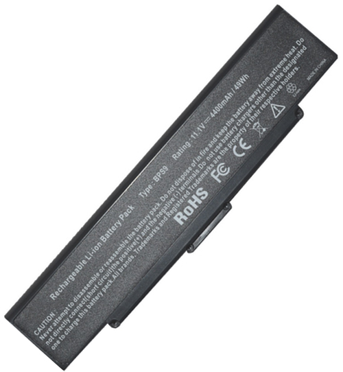 5200mAh Sony Vaio Vgn-cr62b/P Laptop Battery