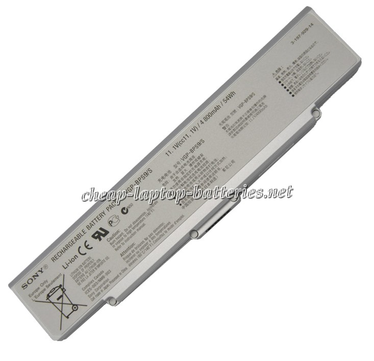 54Wh Sony Vaio Vgn-cr62b/P Laptop Battery