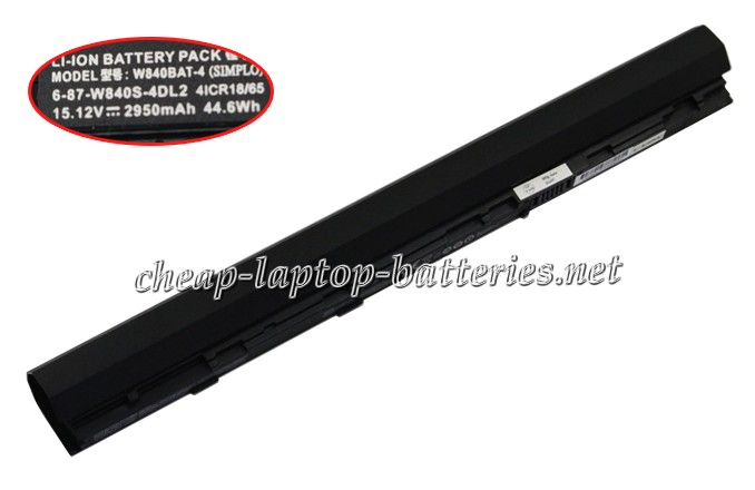 2950mAh Clevo w840sn Laptop Battery