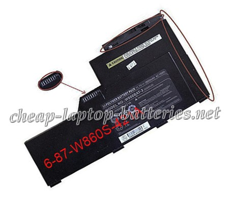 3800mAh Clevo w860bat-3 Laptop Battery